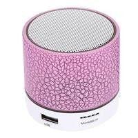 Wireless lED Portable Mini Bluetooth Speaker Crack Pattern Support Micro SD TF Card   USB   FM
