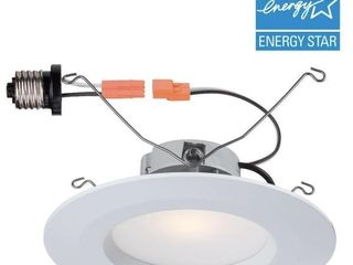 5 in  and 6 in  White Recessed lED Trim with 2700K  90 CRI  6 Pack
