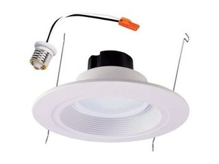 Halo Recessed Rl560WH6930 5 Inch 6 Inch Recessed lED Retrofit Baffle and Trim Ring