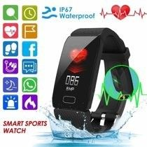 1 14inch Bluetooth Smart Watch Sports Watch IP67 Waterproof Heart Rate Monitor Fitness Tracker Wristband for IOS Android