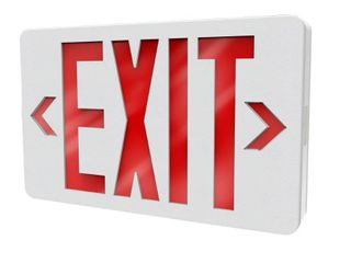 Philips Thermoplastic lED White Emergency Exit Sign with Battery