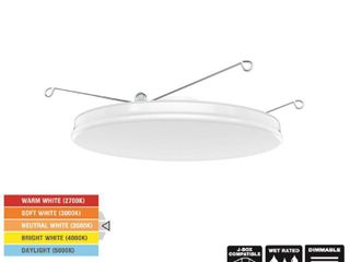 Commercial Electric 8 in  Selectable Integrated lED Recessed Retrofit Trimless Trim