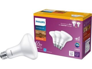 Philips 532093 BR30 E26 lED Floodlight Bulb  Frosted  7 2 Watts