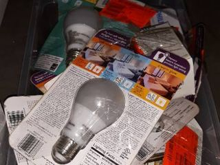 Box full of light bulbs