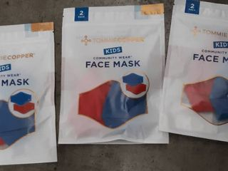 Tommie Copper Kids Face Masks Reusable Odor Resistant Durable Pack Of 2 Red blue