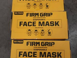 In Box Firm Grip Face Mask Box Of 50   Breathable  lightweight  One Size
