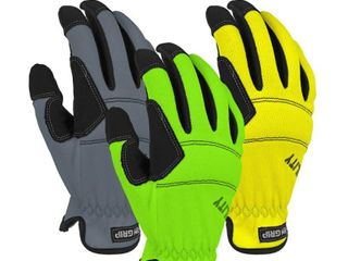 Firm Grip High Vis large Utility High Performance Glove  3 Pack