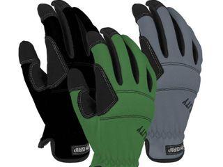 Firm Grip Medium Utility High Performance Glove  3 Pack  Multi