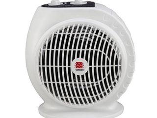 Warmwave 1 500 Watt Portable Electric Fan Heater with Adjustable Thermostat  Beige  Retails 20 58