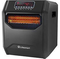 lifesmart   6 element Infrared Heater   Black  Retails 99