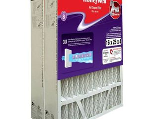 Honeywell Home 16 x 25 x 4 Pleated Air Filter FPR 8  2 Pack  Retails 49 74