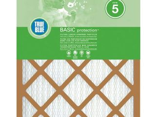 TRUE BlUE Basic FPR 5 Pleated Air Filter 12X30X1IN PACK OF 4