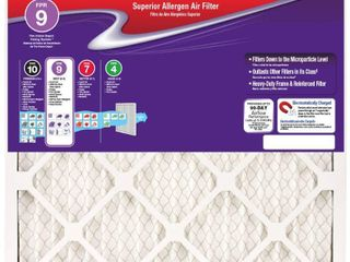 PACK OF 3  Honeywell 17 1 2 x 17 1 2 x 1 Superior Allergen Pleated FPR 9 Air Filter   RETAIlS 16 97 EACH FIlTER