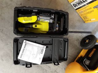 RYOBI 18in  40 Volt HP Brushless lithium Ion Electric Cordless Chainsaw   5Ah Battery And Charger Included   RETAIlS 329