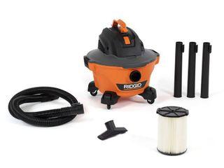 RIDGID 6 Gal  3 5 Peak HP NXT Wet Dry Shop Vacuum with Filter  Hose and Accessories  Oranges Peaches   RETAIlS 62 94
