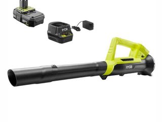Ryobi ONE  90MPH 200CFM 18V lithium Ion leaf Blower  2 0 Ah Battery and Charger Included   RETAIlS 99