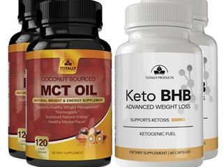 Totally Products Keto Slim BHB   Pure MCT Oil Combo Pack