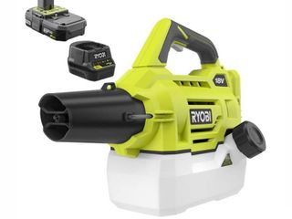 RYOBI ONE  18 Volt lithium Ion Cordless Fogger Mister with 2 0 Ah Battery and Charger Included   RETAIlS 99 98