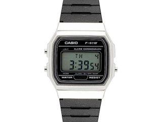 Casio Men s Digital Stopwatch Stainless Steel Resin Watch