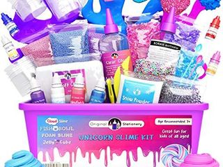 Original Stationery Unicorn Slime Kit Supplies Stuff for Girls Making Slime  Everything in One Box  Kids Can Make Unicorn  Glitter  Fluffy Cloud  Floam Putty  Pink