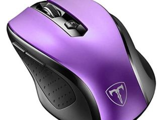 Wireless Mouse  2 4G Mobile Optical Mouse with Nano Receiver  6Buttons  2400DPI  5 Adjustable DPI levels