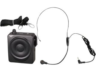 Pyle PWMA50B Portable PA Speaker Voice Amplifier   Built in Rechargeable Battery w Headset Microphone Hands free Waist Band Retail PRICE  43 72