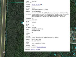 100 acres selling for United States Bankruptcy Court, East Side of US 49, Perkinston, Stone County, MS