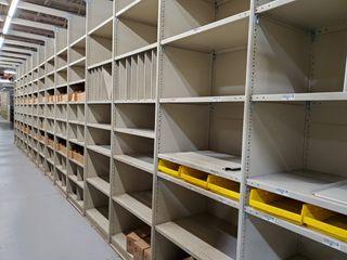 Bulk Offering of Heavy Duty Steel Shelving & Steel Drawers/Cabinets