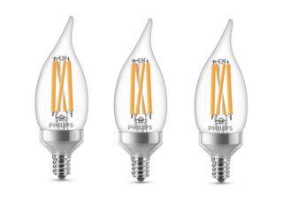 Philips Warm Glow BA11 Candelabra lED Decorative light Bulb