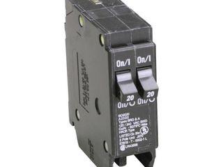 Duplex Circuit Breaker AMP 20A BD2020   5 PACKS 10 CRICUIT BREAKER IN EACH PACK