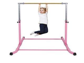 Gymbarpro Gymnastics Junior Training Bar for Kids  Expandable Gym Jr Horizontal Kip Bar for Gymnast Beginner Home Training