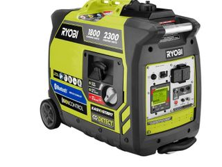 RYOBI 2 300 Watt Recoil Start Bluetooth Super Quiet Gasoline Powered Digital Inverter Generator with CO Shutdown Sensor  Retails 629