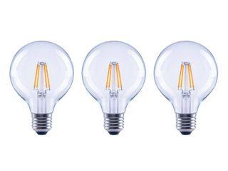 EcoSmart 60 Watt Equivalent G25 Globe Dimmable ENERGY STAR Clear Glass Filament Vintage lED light Bulb Soft White  3 Pack