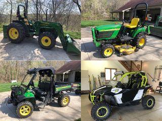 JD Tractor � Mower � Gator � Can-Am Maverick � Trailer � Club Car � Tools � Equipment