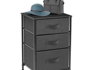 3 Drawer Nightstand  Black