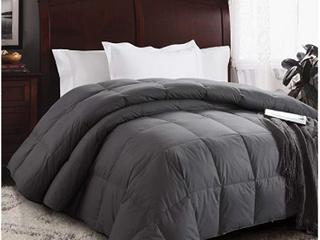 HOMBYS luxurious Oversized King120 x 120  Goose Down Comforter King Size Duvet Insert 85 oz Premium Grey