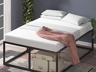 Zinus Joseph 18 Inch Metal Platforma Bed Frame   Mattress Foundation   Wood S  Retail   172 00