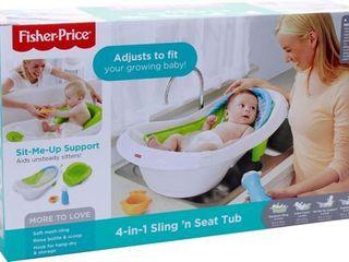 Fisher Price   4 in 1 Sling  n Seat Tub   White Blue Green retail price  39 49
