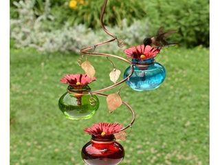 Vinester Outdoor Garden Hummingbird Feeder  MISSING 2 METAl FlOWERS