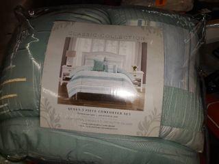 Bangor 5 piece Comforter Set   Jade   Size  Queen