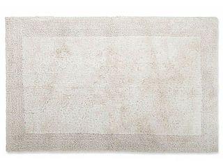 New Wamsutta luxury Ultra Fine Cotton Reversible Bath Rug 17  x 24  in Canvas