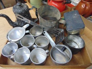 Teapot and Aluminum Cups and More