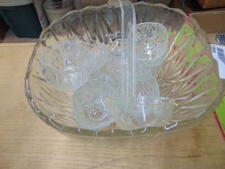 Punch Bowl  Cups and ladle