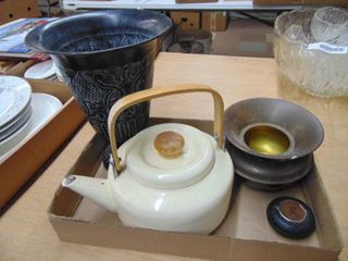 Spittoon  Teapot  Vase and More