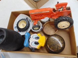 Toy Tractor  lids and Misc