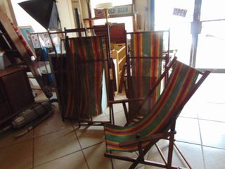 4   Collapsible Beach Chairs   May need repair