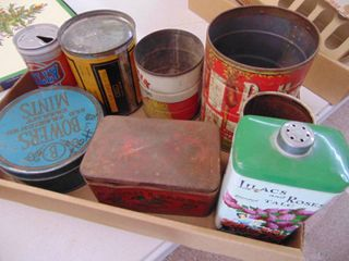 A lot of Metal Cans and Tins