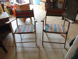 Pair of Wooden Beach Chairs