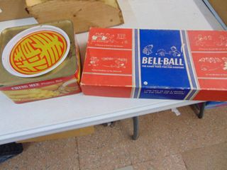 Bell Ball Game and Tin