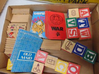 Wooden Blocks and Children s card games